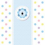 Cartão do anúncio da chegada do bebê do projeto de cartão Fotografia de Stock Royalty Free