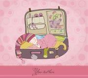Cartão do anúncio do bebé Imagem de Stock Royalty Free