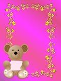 Cartão do anúncio do nascimento do bebê é uma menina Foto de Stock