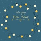 Cartão do ano novo da decoração das ampolas Fotos de Stock