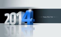 Cartão do ano 2014 novo feliz Fotografia de Stock
