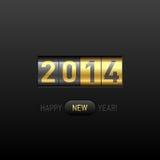 Cartão do ano novo feliz 2014 Fotografia de Stock Royalty Free