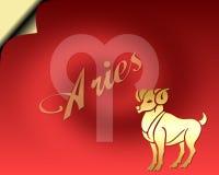 Cartão do Aries Imagem de Stock Royalty Free