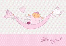 Cartão do bebê Fotografia de Stock