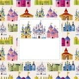 Cartão do castelo dos desenhos animados Fotografia de Stock Royalty Free