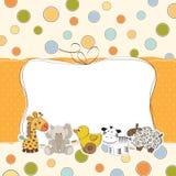Cartão do chuveiro de bebê Fotos de Stock Royalty Free