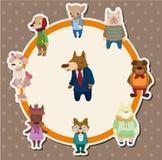 Cartão do cão dos desenhos animados Fotos de Stock