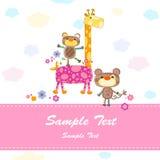 Cartão do convite do bebê Fotos de Stock