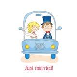 Cartão do convite do casamento Fotografia de Stock Royalty Free