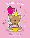 Cartão do convite do partido Imagem de Stock Royalty Free