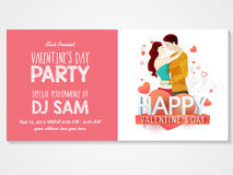 Cartão do convite para a celebração do dia de Valentim Imagem de Stock Royalty Free