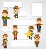 Cartão do cowboy dos desenhos animados Imagem de Stock