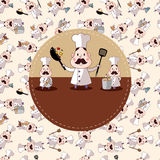 Cartão do cozinheiro chefe dos desenhos animados Fotografia de Stock Royalty Free