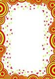 Cartão do dia das nuvens do círculo e de Valentim dos corações Foto de Stock