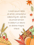 Cartão do dia de ação de graças Foto de Stock