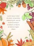 Cartão do dia de ação de graças Imagem de Stock Royalty Free