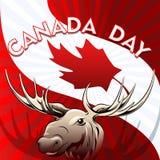 Cartão do dia de Canadá Imagens de Stock