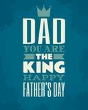 Cartão do dia de pais Imagens de Stock