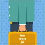 Cartão do dia de pais Imagens de Stock Royalty Free