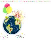 Cartão do dia de terra Foto de Stock Royalty Free