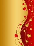 Cartão do dia de Valenitne Fotografia de Stock