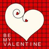 Cartão do dia de Valentim do quadro do coração Fotografia de Stock