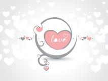 Cartão do dia do Valentim Foto de Stock Royalty Free