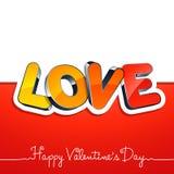 Cartão do dia do Valentim Imagem de Stock Royalty Free