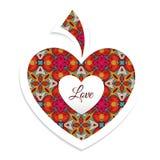 Cart?o do dia do Valentim com cora? Fotografia de Stock