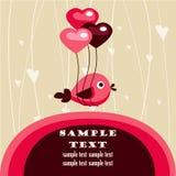 Cartão do dia do Valentim com lugar para seu texto Fotografia de Stock