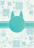 Cartão do gato do presente Imagens de Stock Royalty Free