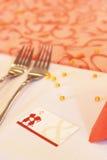 Cartão do lugar do casamento Foto de Stock Royalty Free