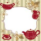 Cartão do menu do chá Fotografia de Stock