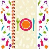 Cartão do menu ou do restaurante Foto de Stock Royalty Free