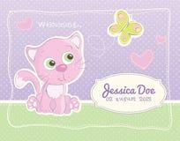 Cartão do padrão do anúncio do nascimento do bebê Imagens de Stock