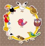 Cartão do pássaro dos desenhos animados Imagem de Stock