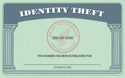 Cartão do roubo de identidade Fotos de Stock