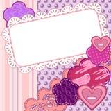 Cartão do Valentim do Scrapbook Imagens de Stock Royalty Free