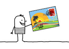 Cartão do verão Fotografia de Stock Royalty Free