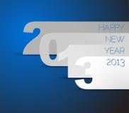 Cartão do vetor do azul do ano novo feliz 2013 Imagem de Stock