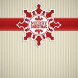 Cartão do vintage do floco de neve do Natal Fotografia de Stock Royalty Free