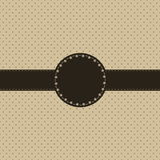 Cartão do vintage, projeto do ponto de polca Imagens de Stock Royalty Free
