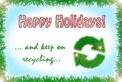 Cartão dos feriados de inverno do estilo do ouropel Fotos de Stock