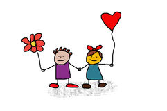 Cartão dos Valentim Fotografia de Stock Royalty Free