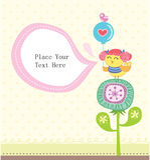 Cartão encantador Fotografia de Stock