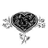 Cartão floral do amor. Coração Fotos de Stock Royalty Free