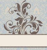 Cartão floral do convite Fotos de Stock Royalty Free