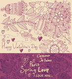 Cartão floral do feriado Fotos de Stock Royalty Free
