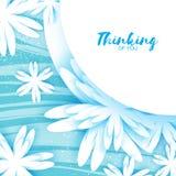 Cartão floral do origâmi bonito com quadro do círculo para o texto Foto de Stock