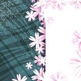 Cartão floral do origâmi Ramalhete bonito Quadro do retângulo para o texto Fotografia de Stock